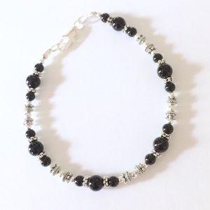 Jewelry - Black onyx silver bracelet